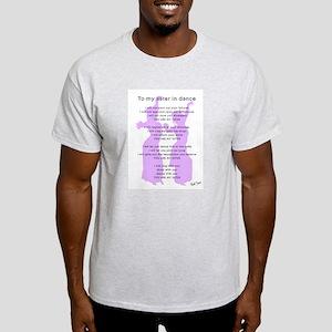 Bellydance Sister Poem Ash Grey T-Shirt