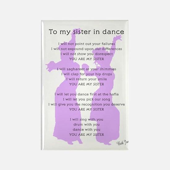 Bellydance Sister Poem Rectangle Magnet