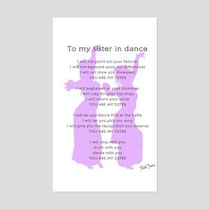 Bellydance Sister Poem Rectangle Sticker