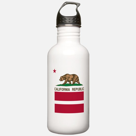 California Flag Gay Pride Equal Rights Water Bottl