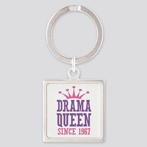 Drama Queen Since 1967 Square Keychain