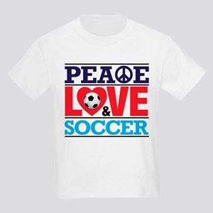 Peace Love and Soccer T-Shirt