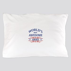 World's Most Awesome Aries Pillow Case