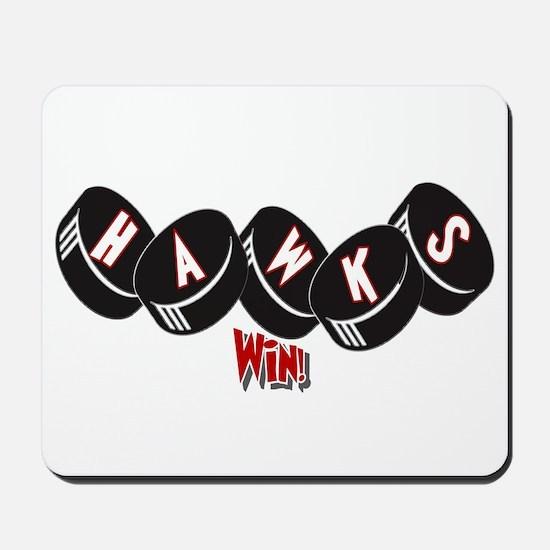 Hawks Win! Mousepad