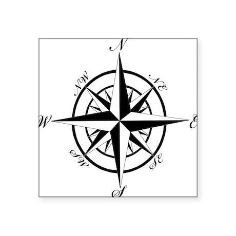 Vintage Compass Sticker