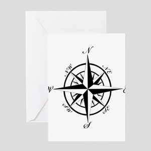 Vintage Compass Greeting Card