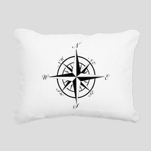 Vintage Compass Rectangular Canvas Pillow