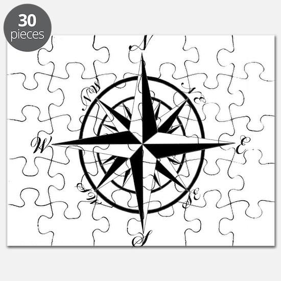 Vintage Compass Puzzle