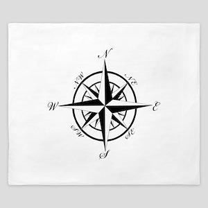 Vintage Compass King Duvet