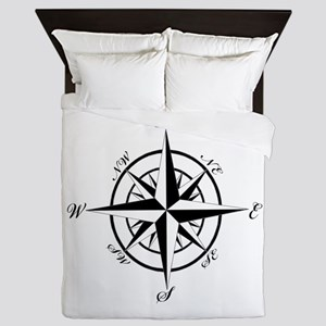 Vintage Compass Queen Duvet