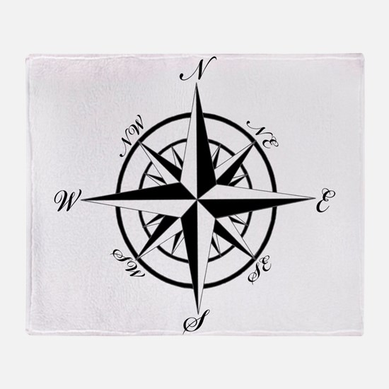 Vintage Compass Throw Blanket