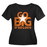 Go Big Women's Plus Size Scoop Neck Dark T-Shirt