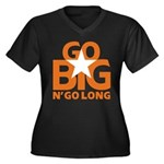Go Big Women's Plus Size V-Neck Dark T-Shirt