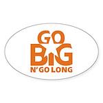 Go Big Sticker (Oval 50 pk)