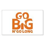 Go Big Sticker (Rectangle 10 pk)