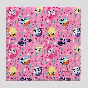 MLP Pattern Pink Tile Coaster