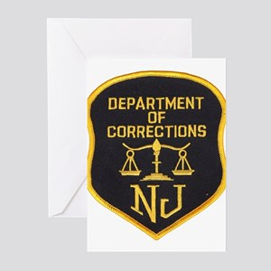 New Jersey Corrections Greeting Cards (Package of