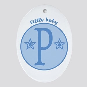 Baby P Oval Ornament