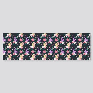 MLP Flower Pattern Bumper Sticker