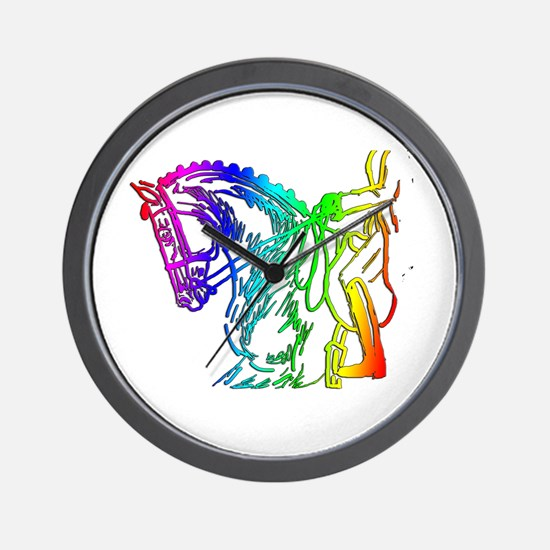 Colorful Dressage Wall Clock