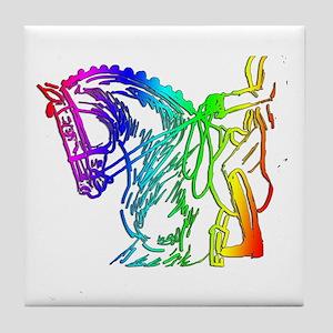 Colorful Dressage Tile Coaster