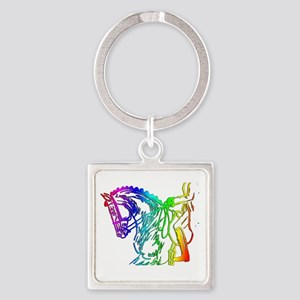Colorful Dressage Keychains