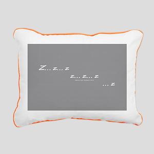 Zzz Twilight Rectangular Canvas Pillow