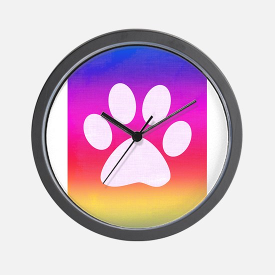 Sail Screen Rainbow Paw Rug Wall Clock