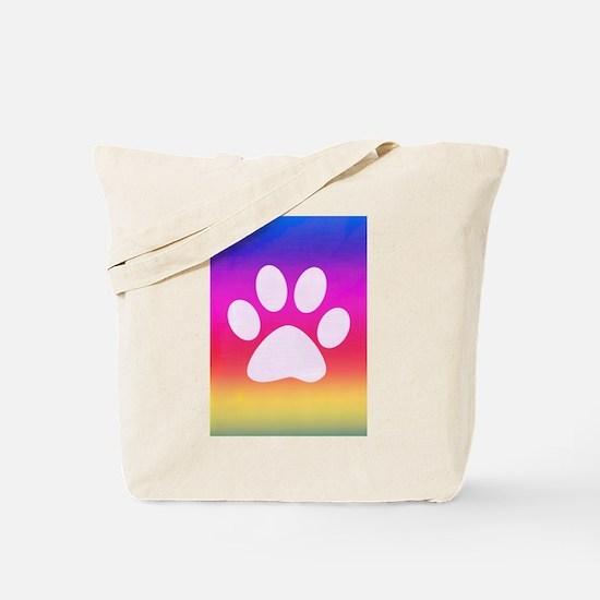 Sail Screen Rainbow Paw Rug Tote Bag