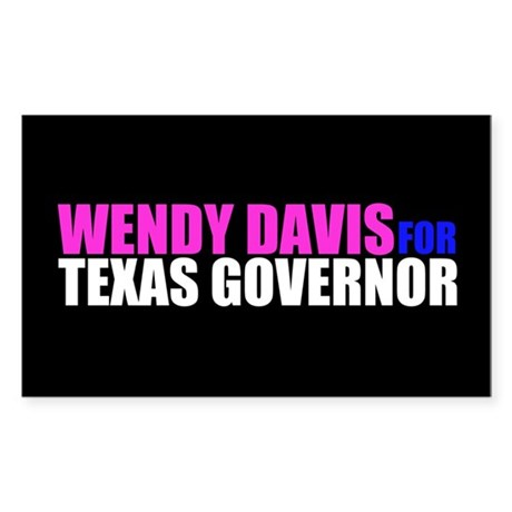 Wendy Davis for Governor Sticker (Rectangle)