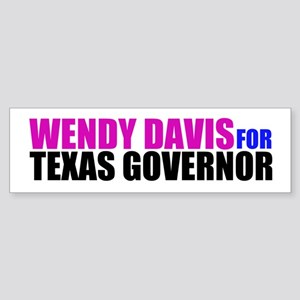 Wendy Davis for Governor Sticker (Bumper)