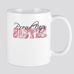 Proud Navy Sister (Pink Butterfly Camo) Mug