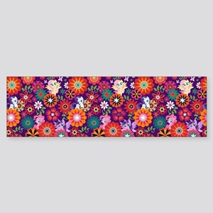 MLP Pattern Flowers Bumper Sticker