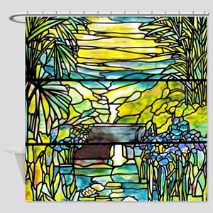 Holy City Memorial Window Shower Curtain