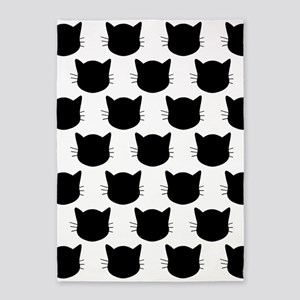 'Cats' 5'x7'Area Rug