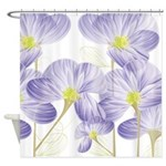 Lavender Sweet Peas Floral Shower Curtain