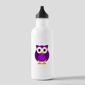 Cute Purple Owl Water Bottle