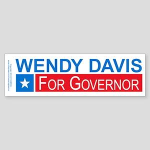 Wendy Davis Governor Democrat Sticker (Bumper)
