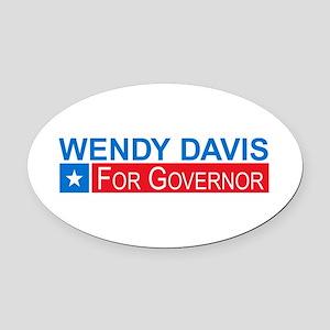 Wendy Davis Governor Democrat Oval Car Magnet
