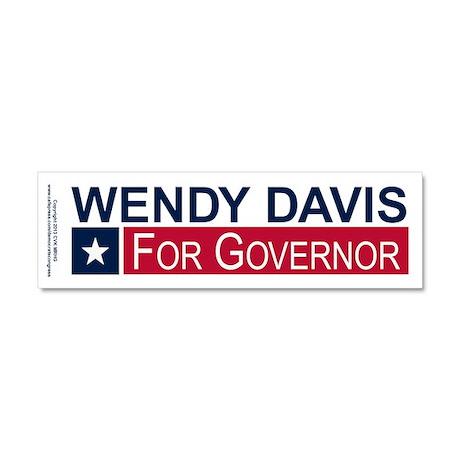 Wendy Davis Governor Texas Car Magnet 10 x 3