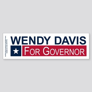 Wendy Davis Governor Texas Sticker (Bumper)