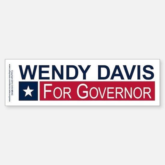Wendy Davis Governor Texas Sticker (Bumper)