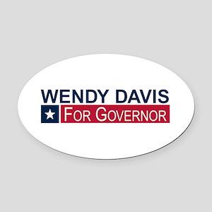 Wendy Davis Governor Texas Oval Car Magnet