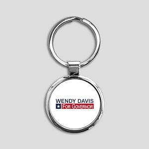 Wendy Davis Governor Texas Round Keychain