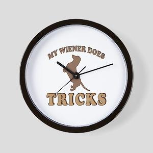 Wiener Tricks Wall Clock
