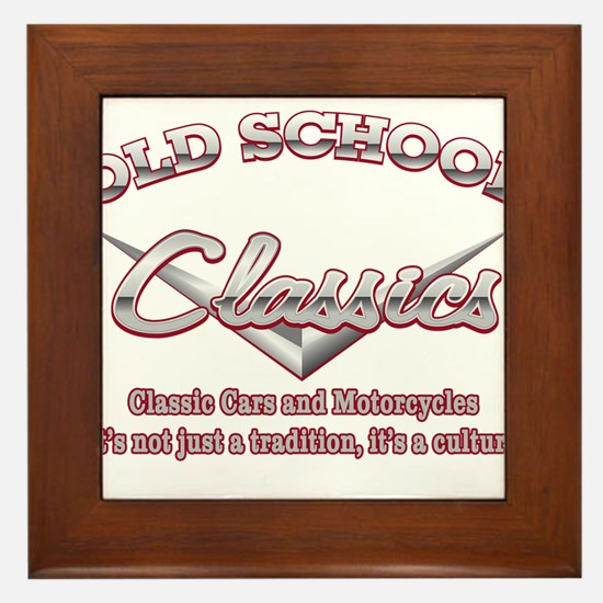 Old School Classics Framed Tile