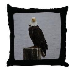 Comox Eagle Throw Pillow