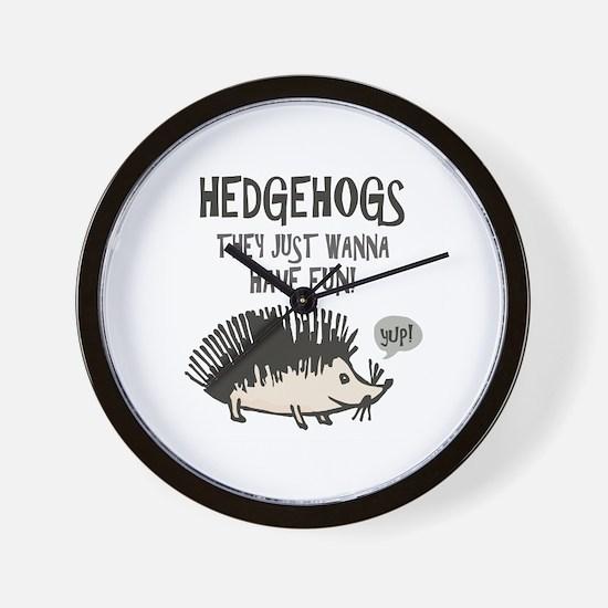 Hedgehog Fun Wall Clock