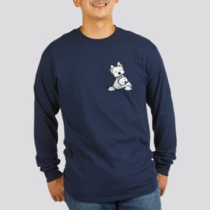 Westie Hug Long Sleeve Dark T-Shirt