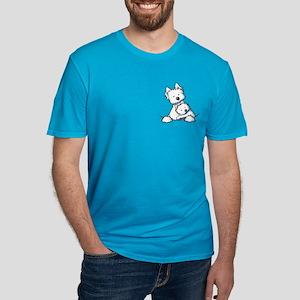 Westie Hug Men's Fitted T-Shirt (dark)